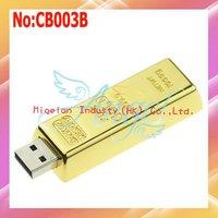 Wholesale Gold USB Flash Drive 4G|8G|16GB 32GB 64GB USB 2.0 Flash Memory Drive One year warranty #CB003B