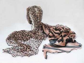 Women fashion spring Chiffon and silk Long printed scarf sex design+ free shipping