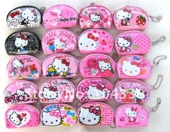 Wholesale 24 pcs Girls' HELLO KITTY Purses Handbag Bags with zip