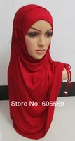 mh032 lastest design modal fabric big size islamic headgear with lace up in each side in assorted colors for free shipping