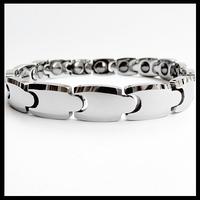 "NEW Unisex Tungsten Carbide Health Magnetic Stone Inlay Bracelet 8"""