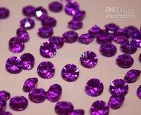 lastest fashion 5000 Diamond Wedding purple Table Scatter Crystals Confetti Decoration Gems 4.5mm