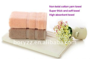 New arrival express free shipping 70gsm 36x38cm superior non-twist cotton yarn super thicker face towels