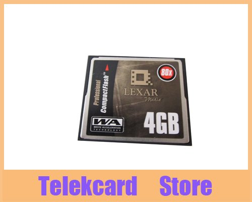 Lexar 4GB 80X CF Card 4gb 80x compactflash memory cards compact flash(China (Mainland))
