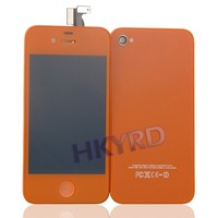 Orange Touch digitizer&lcd set+back Housing heatsink assembly For iphone 4G BA020