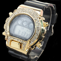 2013 fashion diamond luxury watch 6900 G sport watch digital wrist watch  free shipping 1pcs