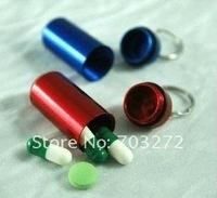 10pcs/lot freeshipping Multiple Colors Stainless Steel Gallipot for Pills + Cylindrical Design, Pill Box, Pill Bottle
