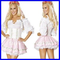 Bavarian beer girl costume Oktoberfest DHL Free shipping 2012 Women costume Wholesale 10pcs/lot Adult Fancy dress costume 8494