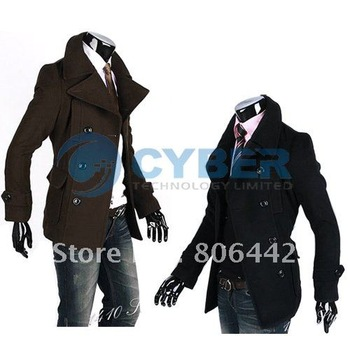 Fashion Men Coat Jacket  Double Platoon To Buckle Winter Slim Fit Trench S/M/L/XL Sizes 3299