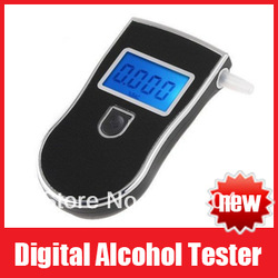 High Quality Prefessional Digital Breath Alcohol Tester Breathalyser Free Shipping(China (Mainland))