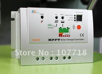 10A 12/24V MPPT solar controller with dual timer,suitable for Thin film,Silver Case