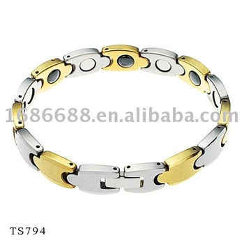 Promote new product Free shipping Tungsten bracelet Bio bracelet health balance bracelet Gold color High Polished 794