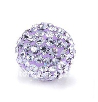 Wholesale Shamballa beads, New Shamballa beads 10mm Micro Pave CZ Disco Ball beads, free shipping, light purple BE5
