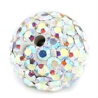 Wholesale Shamballa beads, New Shamballa beads 10mm Micro Pave CZ Disco Ball beads, free shipping,crystla A color BE3