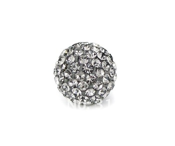 Wholesale Shamballa beads, New Shamballa beads 10mm Micro Pave CZ Disco Ball beads, free shipping, gray color BE2