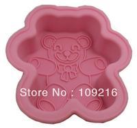 Green Good Quality 100% Food Grade Silicone Cake Mold/Muffin Cupcake Pan Bear Cake Mold