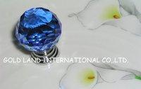 D20mm Free shipping blue crystal  kitchen cabinet handle and drawer door knob/drawer knob&wardrobe knob