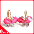 Korean Style Fashion Earrings Wings Rhinestone Golden Bow Butterfly Earrings Mixed Batch 20pair