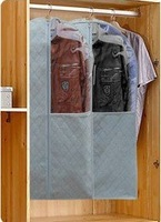 5pcs/lot,dustproof, mothproof, moistureproof,Bamboo Charcoal Non-woven fabric suit cover, garment cover/ bag,3 SIZES