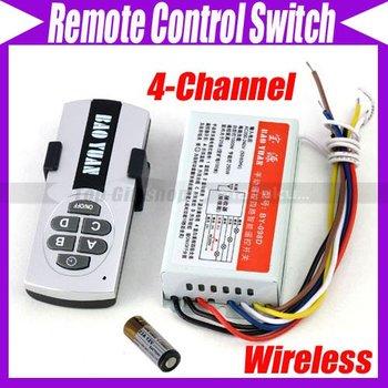 4-Channel Digital Wireless Remote Control Switch  #2423