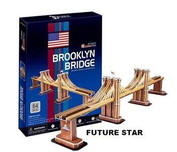 Freeshipping! Brooklyn Bridge  Cubic Fun 3D Jigsaw Puzzle 3D paper model DIY puzzle Educational toys C107H
