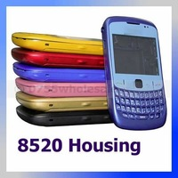 Free shipping by DHL Housing with Battery Cover + keypad + lens for Blackberry Curve 8520, many colors