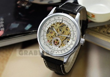 Deluxe AUTO Mechanical 6 Hand Mens Multi Function Watch,Christmas Gift
