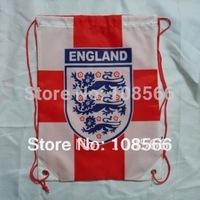 wholesale England  football fans back pack bag/ white - red sports bag backpacks 10pcs