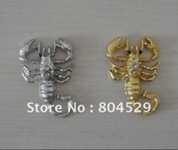 Car Scorpion Sticker,3D Chrome Badge Emblem, Car metal decals,Auto labels,decorative parts,accessories