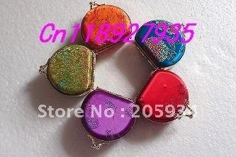 Free shipping! Lots 10pcs homemade Embroidery Brocade Mirror Jewelry box ring case Makeup mirror  SA03
