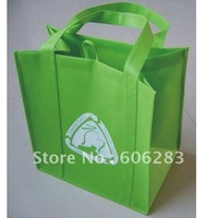 Custom non woven bag with handle sewing to the bottom