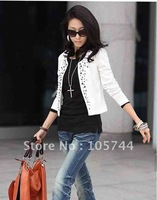 Big Discount Promotion Fashion Lady Long-sleeve Ruffle Blouse,factory price,women's blouse of apparel
