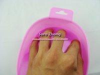 Free Shipping Nail Art Acrylic Tips Wash Manicure Tray Tools Nail Soak Bowl 12pcs/lot