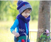 Free shipping ! Chrismas gift children hat winter hat knitted hat colorful hat for boys and girls 2pcs/lot