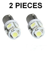 Free shipping 20pcs BA9S 5smd 5050 5 smd ba9s  Car LED Lights 5 smd 5050 DC 12V White SMT Interior light lamp Bulbs