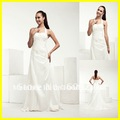 Top Quality 2012 Halter Court Train Taffeta Applique Sheath Wedding Bridal Dresses Sheath White Wedding Gowns