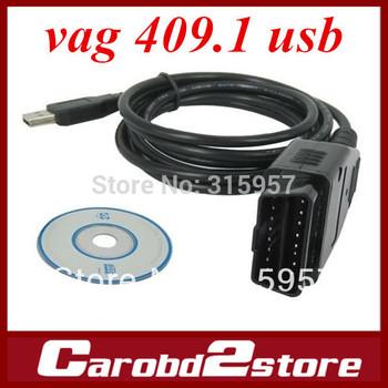 VAG 409.1 COM USB KKL,VAG409 USB interface black cable