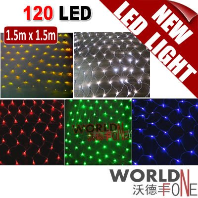 FREE SHIPPING!!! 120 LED Net Light Chirstmas LED String Light Nightlight Decoration Lamp - White/Yellow/Red/Green/Blue (WF-LCL7)(China (Mainland))