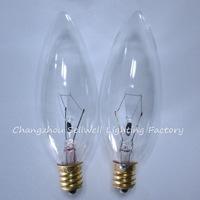 E12 candle lamp small bulb Screw base incandescent light bulb 220V/40W transparent a733