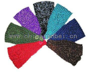Shiny Handmade Headbands crochet Flower soft acrylic warm head wrap
