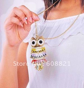 N142 мода ювелирные изделия новое поступление! новый цвет сова ожерелья для женщин ...