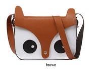 New Womens Ladies Retro Shoulder Bag Fashion Handbags Cute School Tote Owl Fox PU Women Bags,Free Shipping!
