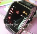 Binary LED Digital Men&#39;s Lady Fashion Leisure Wrist Watch brand new free shipping
