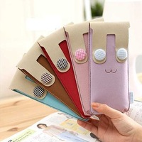 Freeshipping 10pcs/lot Lovely pu Ribbon Pencil Case ,Pencil bag,pencil pouch Stationery 3colors