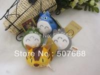 100pcs My Neighbor Totoro Strap PLUSH f/ Cell Phone mp3 key chain totoro strap chains phone chains