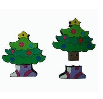 20pcs Christmas Gift 100% Quality  full Memory USB FLASH U-DISK Cute XMAS Christmas Tree true 8GB FREE SHIPPING