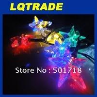 High-Q solar products&Low cardon Chriatmas lights /Ten head hang star Christmas string Lamp
