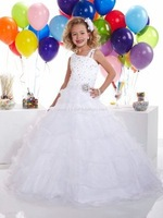 Hot Sale !Fashion White Flower Girl Dress A Line Custom Size2.4.6.8.10++