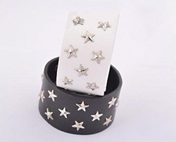 Punk gothic Braclets B0108 Hollywood Star Rivet White Hemp Surfer Wrap Cuff Leather Bracelet B2.99 wholesale(China (Mainland))