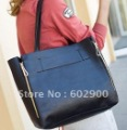 2011 new fashion trend latest ladies pu leather shoulder bags, guaranteed women double zipper tote bag, big size retro handbag